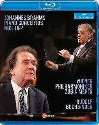 Cover Wiener Philharmoniker / Zubin Mehta / Rudolf Buchbinder - Johannes Brahms: Piano Concertos Nos. 1 & 2 [DVD]
